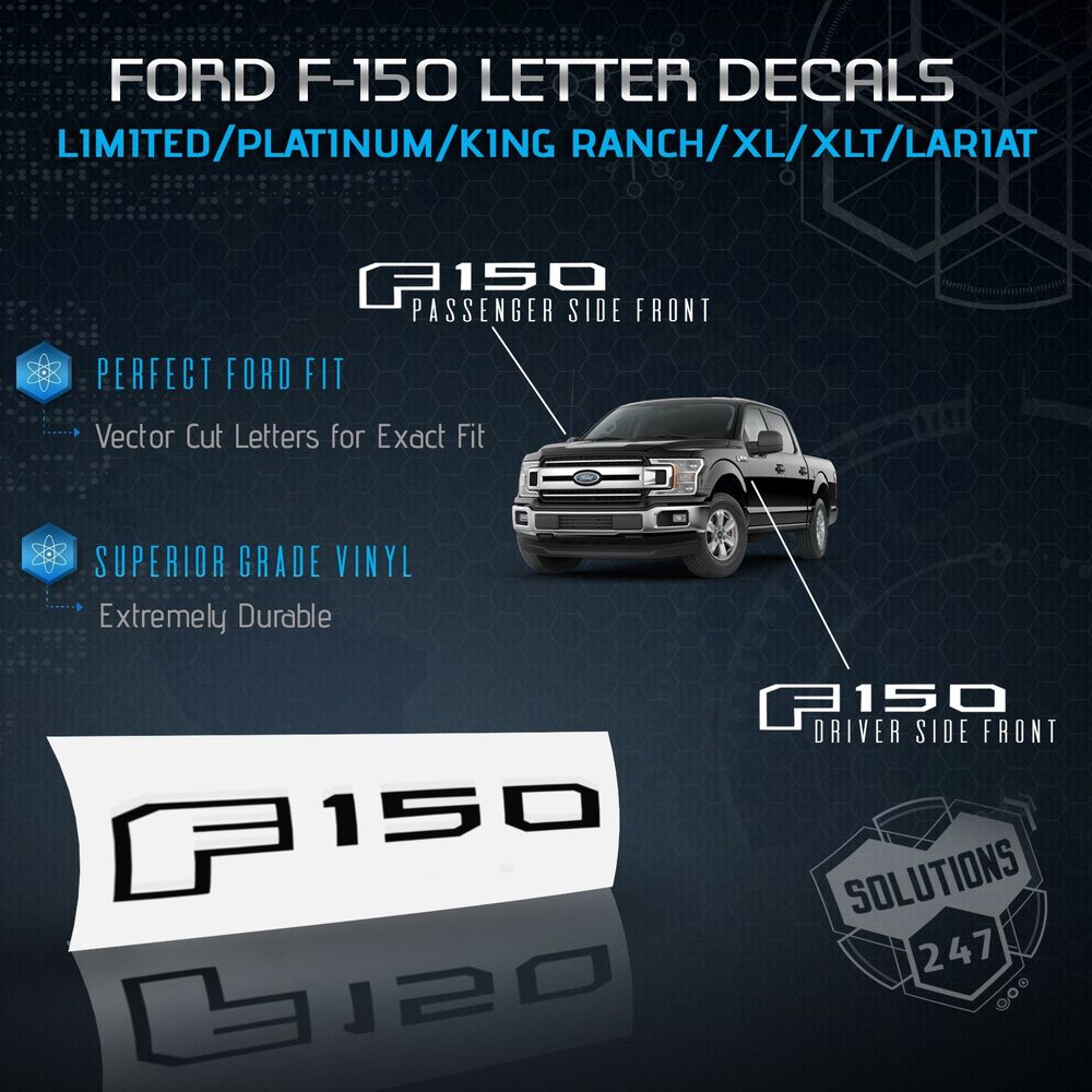 15 18 ford f150 side emblem set vinyl overlay decal sticker glossy gloss matte ebay