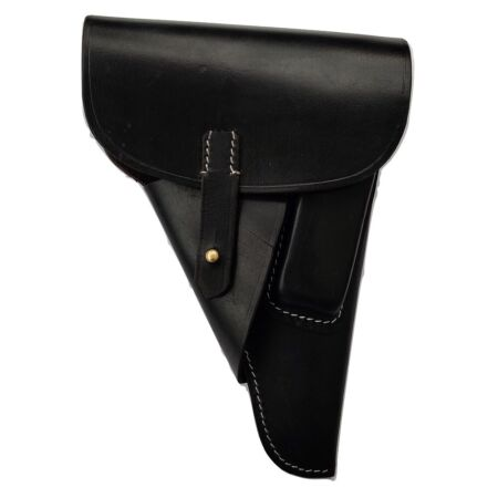 img-German WWII P38 Softshell Black Leather Holster (Repro)
