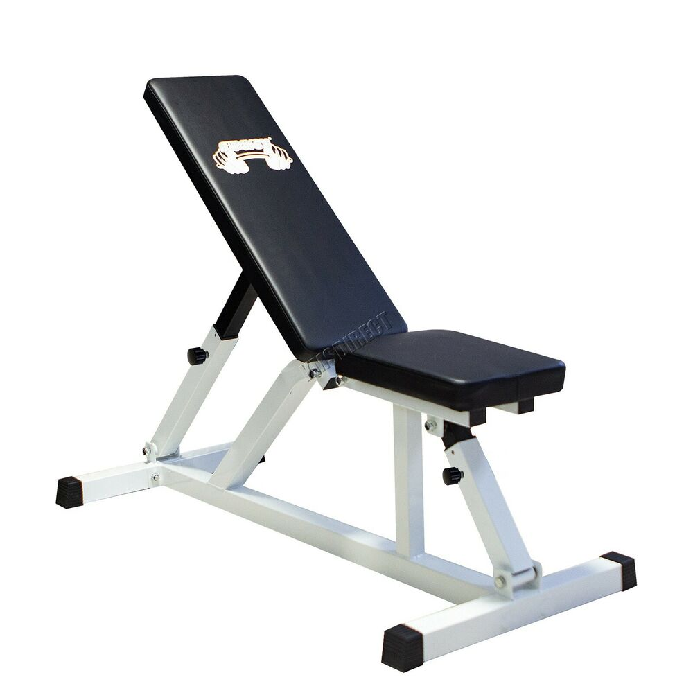 Heavy Duty Positions Adjustable Flat Incline Gym Utility ...
