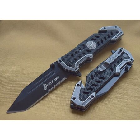 img-Couteau Tactical USMC Marines A/O Extraction & Evasion Tanto USMA1052BK