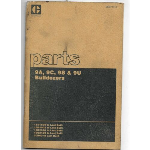 original-caterpillar-9a-9c-9s-9u-bulldozers-parts-book-catalog-manual-sebp1015