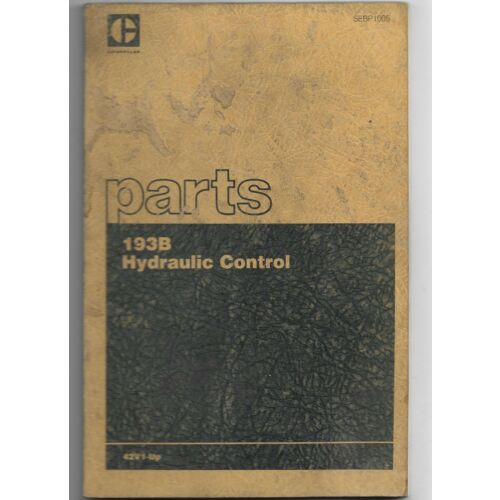 original-caterpillar-193b-hydraulic-control-parts-book-catalog-manual-sebp1005