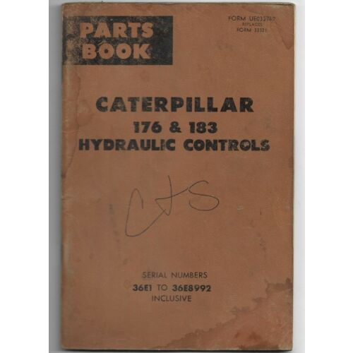 original-caterpillar-176-183-hydraulic-controls-parts-book-catalog-ue033987
