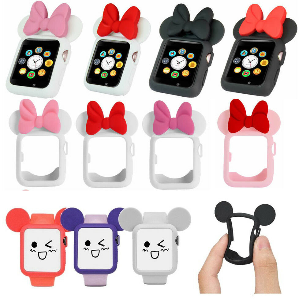2bc5564b9d9 Details about Cute Minnie Mickey Mouse Ears Silicone Protective Case Cover  for Apple Watch HOT