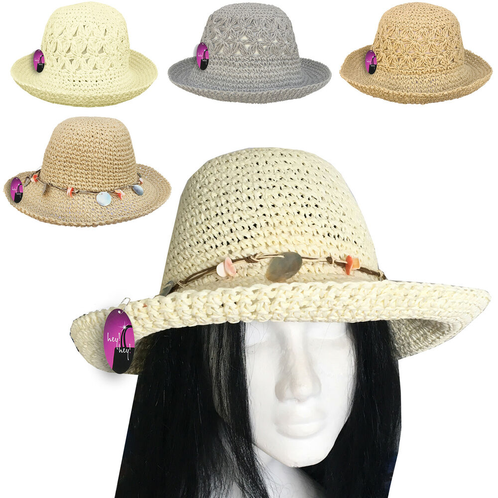 Details about Ladies Straw Hat Sun Women Summer Beach Holiday Crushable  Packable Foldable 46e8eacc3bb