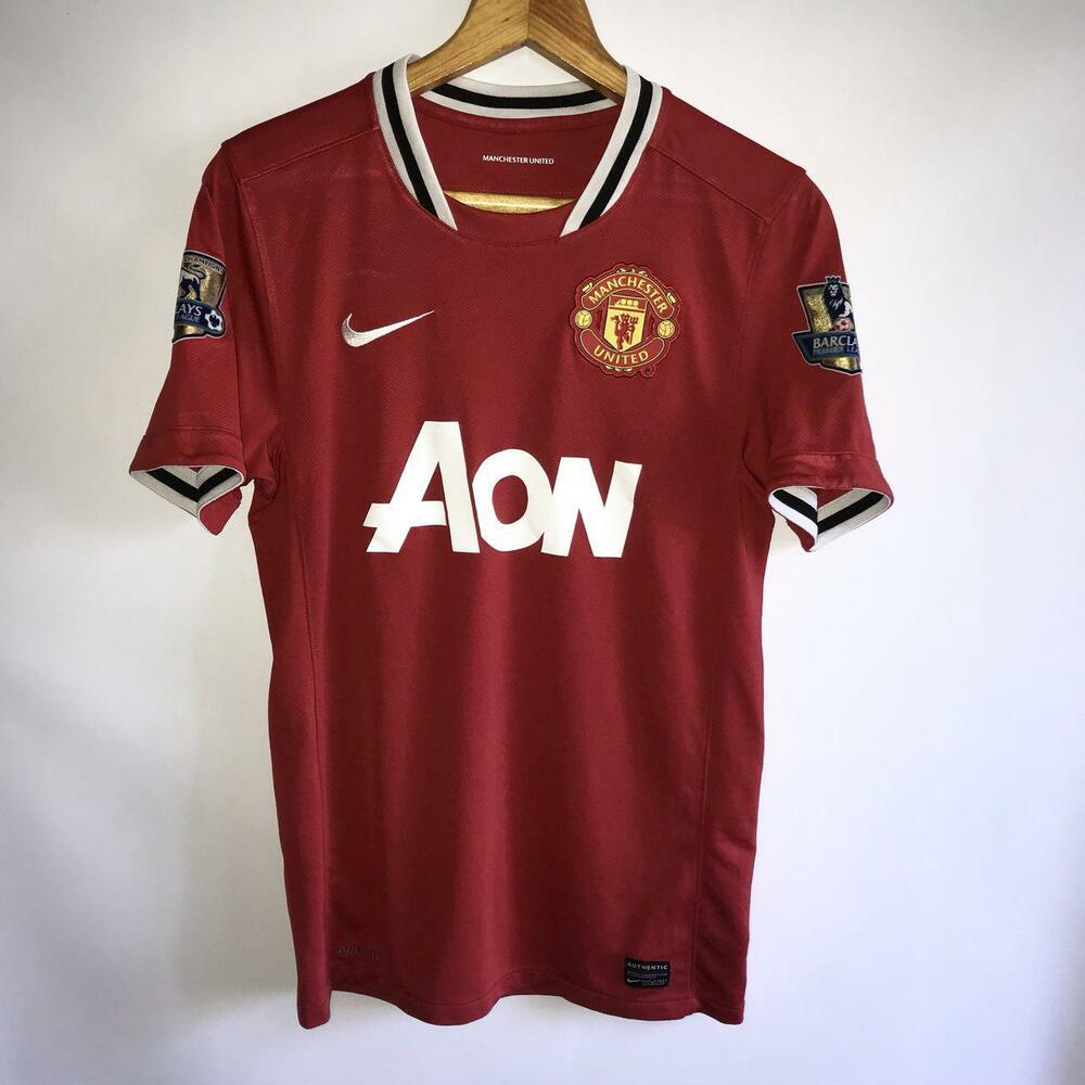 77b0a2d2f75 Details about RARE MANCHESTER UNITED HOME 2011 12 ORIGINAL FOOTBALL SHIRT  JERSEY NIKE   SIZE S