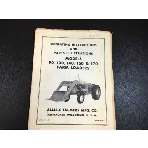 original-allis-chalmers-90-100-140-150-170-farm-loader-operators-parts-manual