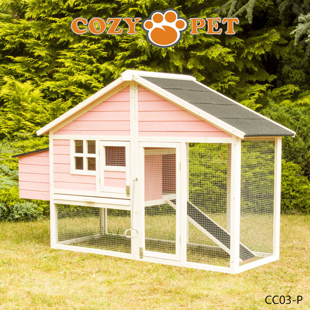 Chicken Coop Cozy Pet Pink Hen House Poultry Ark Rabbit