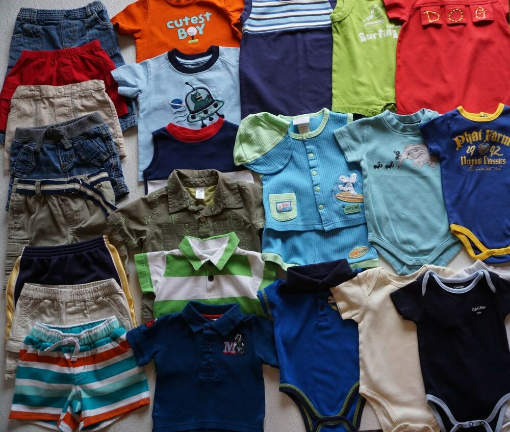 430f8d4938d37 Details about Baby Boys Size 3-6 Months Summer Clothes Lot of 26 Items L1-19