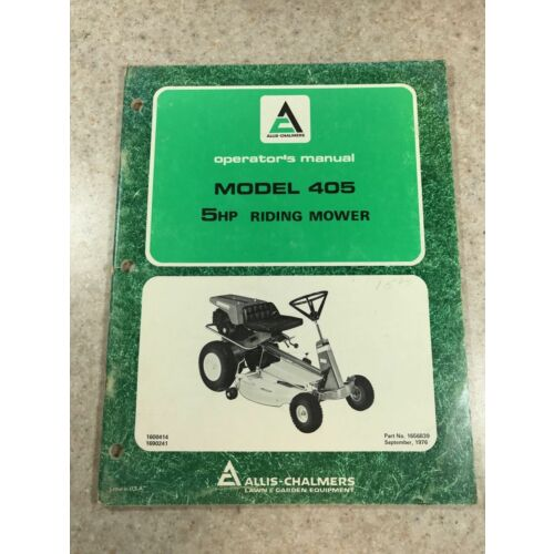 original-allis-chalmers-5hp-model-405-riding-mower-operators-manual-1656839