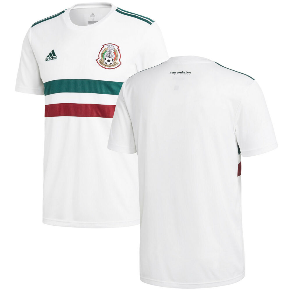b2f293602b003 Details about adidas Mexico FIFA WC World Cup 2018 Away Soccer Jersey White  Kids Youth