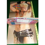 1985 STAR HITS: BILLY IDOL Poster, Madonna, Strawberry Switchblade, EXC COND'n