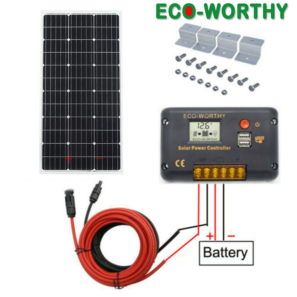 Sika Halter 5m Kabel Solar Panel Set 100w Mppt Regler Dachdurchführung Making Things Convenient For Customers