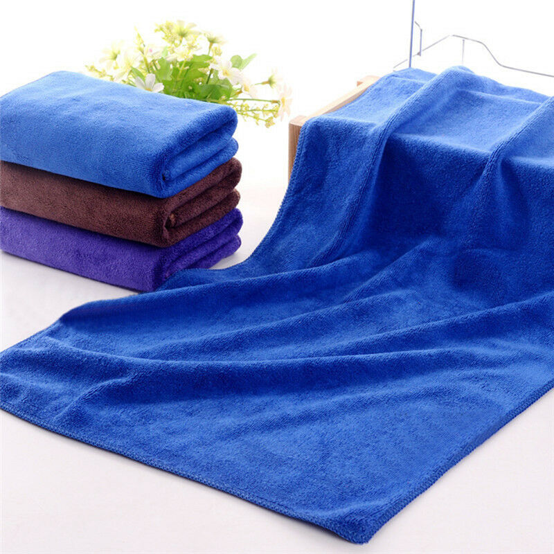 Zip Soft Microfiber Towel: 30*70cm New Large Car Soft Microfiber Absorbent Wash