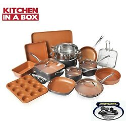 Kyпить Gotham Steel 25 Piece All in One Kitchen, Nonstick Cookware & Bakeware Set, NEW! на еВаy.соm