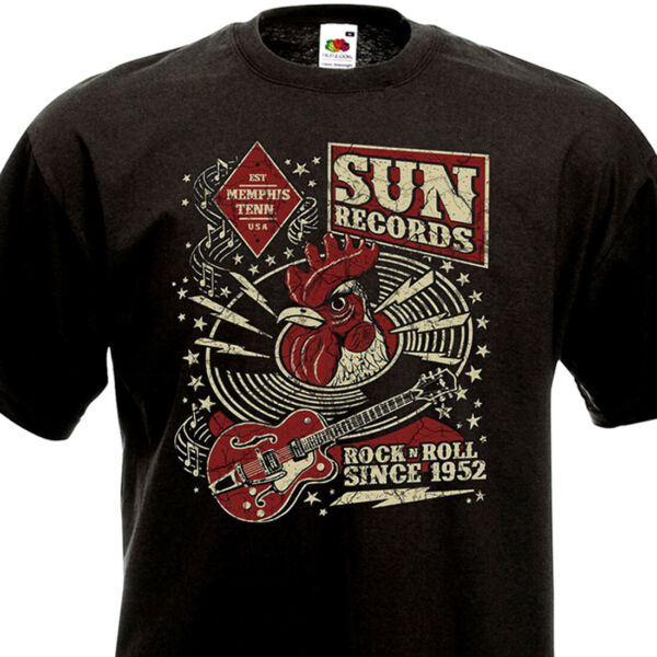 T-SHIRT SUN Records Memphis Tenn. USA - Rock'n'Roll since 1952 Johnny Cash Elvis
