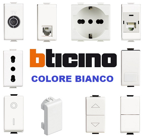 BTICINO PRESE INTERRUTTORI PULSANTI ORIGINALI LIVING LIGHT E AIR