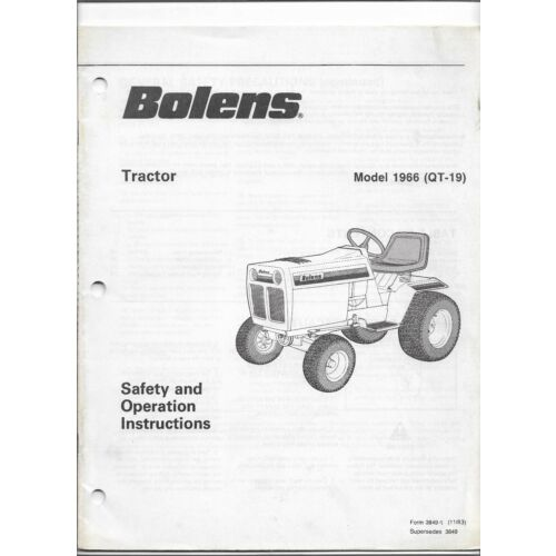 original-oe-oem-bolens-model-1966-qt19-qt19-tractor-operators-manual-38491