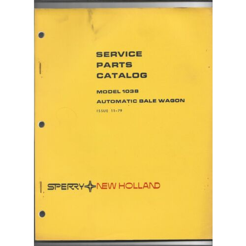 original-479-sperry-new-holland-1038-automatic-bale-wagon-service-parts-catalog