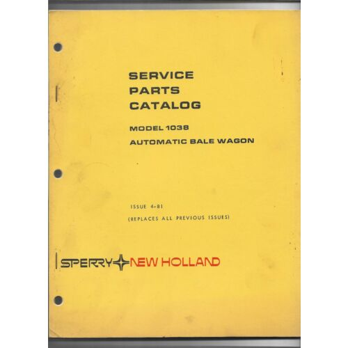 original-481-sperry-new-holland-1038-automatic-bale-wagon-service-parts-catalog