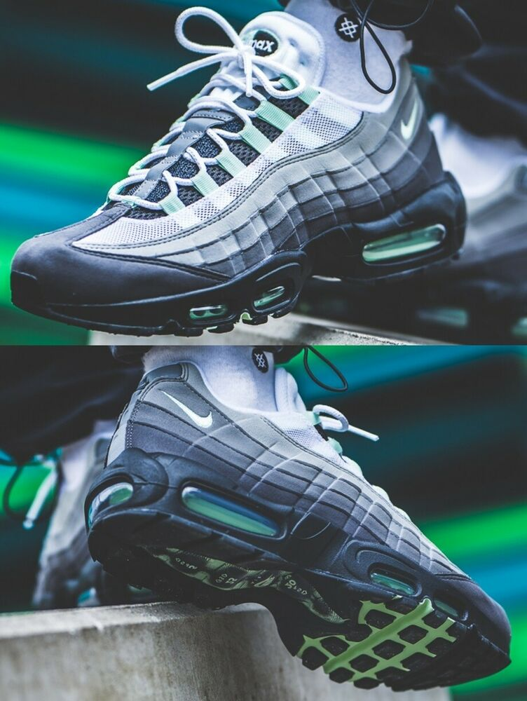 pretty nice 324bf 0114f Details about Nike Air Max 95 Essential Wolf Grey Pure Platinium Sneaker  Men s Lifestyle Shoes