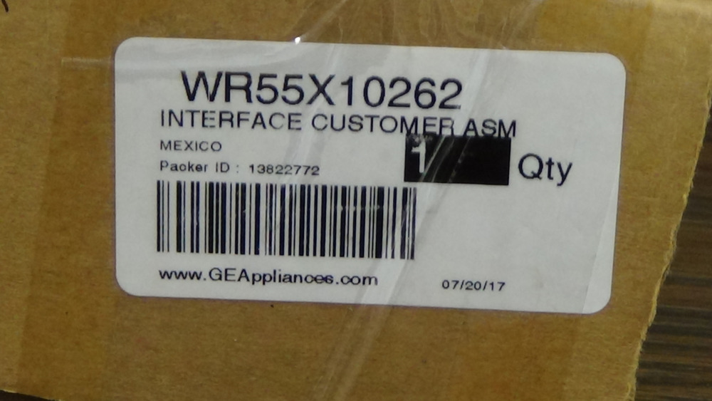 GE REFRIGERATOR INTERFACE ASSEMBLY WR55X10262