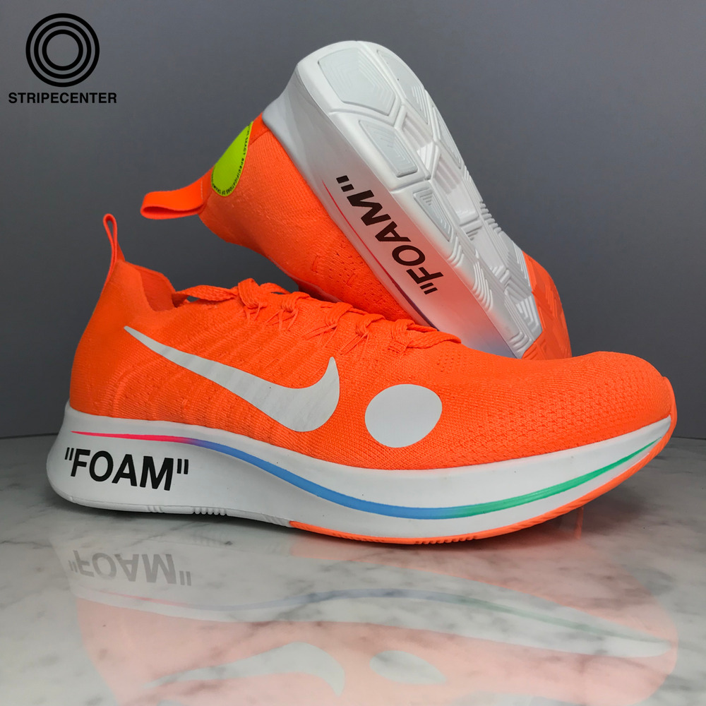 3354425d0bc1 Details about NIKE ZOOM FLY MERCURIAL 'OFF-WHITE ™' - TOTAL ORANGE/WHITE-VOLT  - AO2115-800