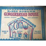 vintage auburn toys, No. 985 Gingerbread House In Box, MINT