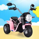 New 6V Kids Ride On Motorcycle Battery Powered 3 Wheel Bicycle Electric Toy Pink