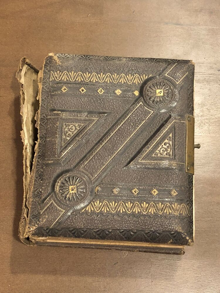 Antique Photo Album 1800's Tin and Cabinet photos | eBay
