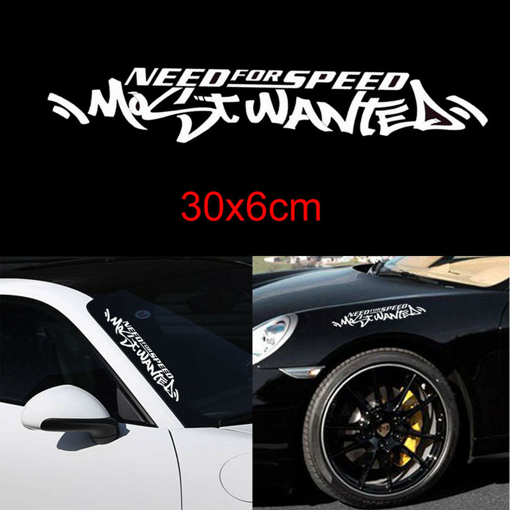 Details about jdm white need for speed scratch car windshield vinyl decal sticker for mazda
