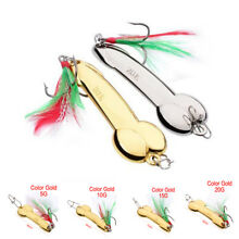3D Spoon Fishing Lures Bait Penis 5-20g Tackle Spinner Metal Hook Bass Dick DS