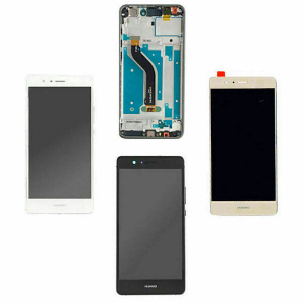 TOUCH SCREEN VETRO + LCD DISPLAY + FRAME Per HUAWEI P9 LITE VNS L31 L23 BIANCO