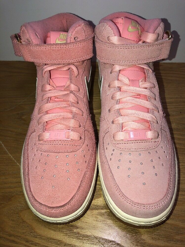 5419ec03a111 Details about Nike Air Force 1 Mid Seasonal Pink Melon Metallid Gold Womens  Size6.5 818596-800