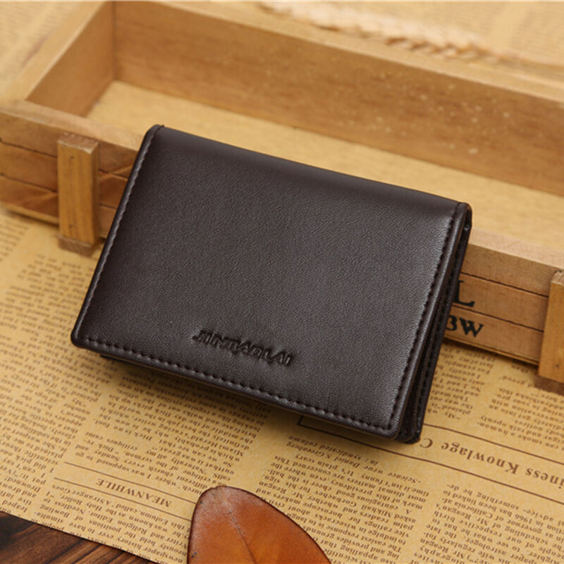 efd8a37c0c46 Details about Mens Leather Wallet Bifold ID Credit Card Holder Mini Purse  Money Clip Purse