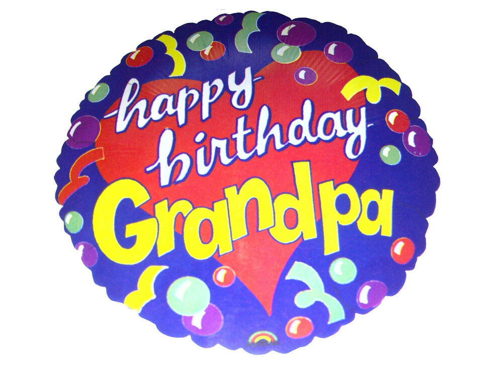 Happy Birthday Grandpa Grandad Foil 18 45cm Balloon Helium Air Party Anagram