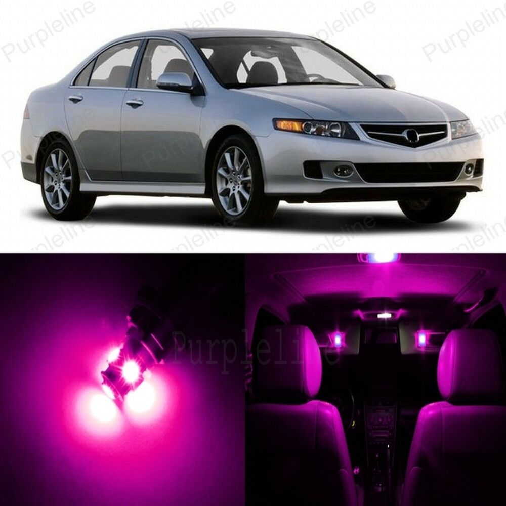 14 X Pink LED Interior Lights Package For 2004
