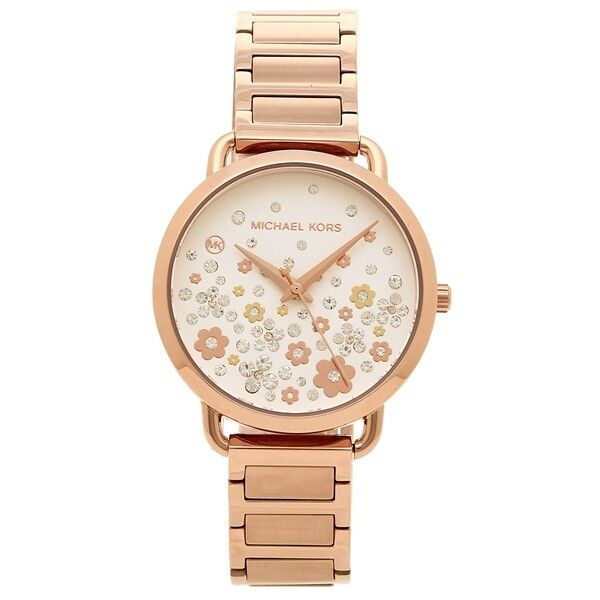 d4cafba0c6d9 Details about New NIB Michael Kors Women s Portia Rose Gold Crystal Flower Watch  MK3841