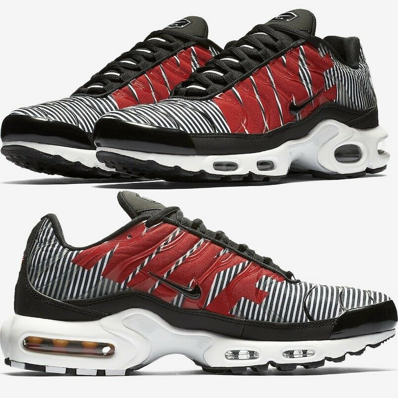 timeless design 1b74b 88150 Details about Nike Air Max Plus Tn SE STRIPED Black White Men s Shoes  Premium Comfy Sneakers