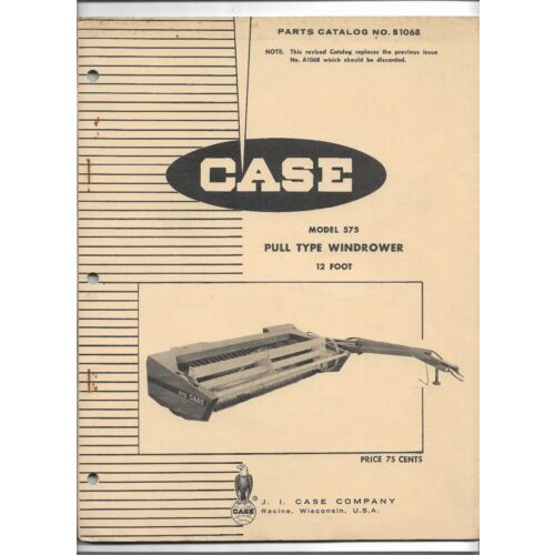 original-case-model-575-pull-type-15-foot-windrower-parts-catalog-number-b1068