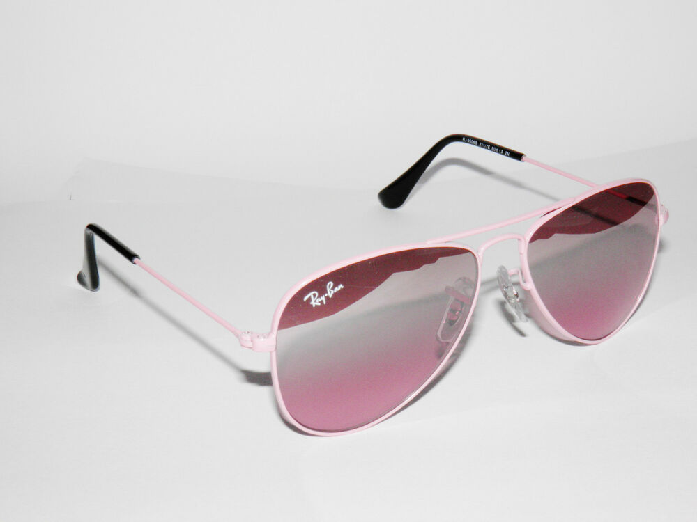 efba25b1135 RAY BAN kids sunglasses RJ 9506S PINK 9506 JUNIOR AVIATORS 211 7E JR FREE  S H