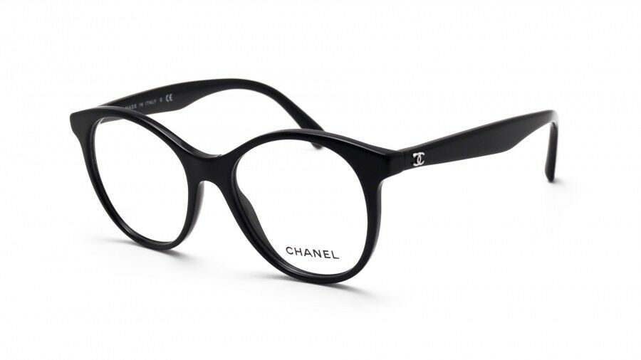 dc85f9043 Details about 66 CHANEL 3361-A c.501 Round Signature Black Eyeglasses  Optical Frame 50*17*140