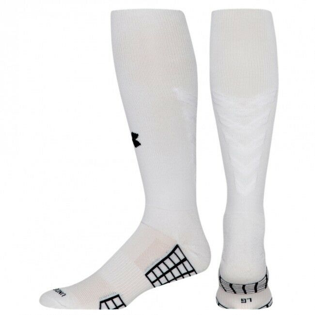 3c0c5a34180 Details about Under Armour UA Striker Over the Calf Soccer Socks Girls Boys  Large Size 1-4 OTC