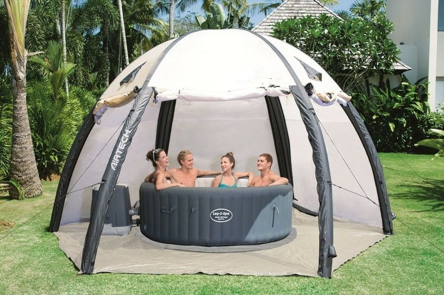 Details about AIR TIGHT WATERPROOF Inflatable Hot Tub Spa Dome Cover Tent Structure & AIR TIGHT WATERPROOF Inflatable Hot Tub Spa Dome Cover Tent ...