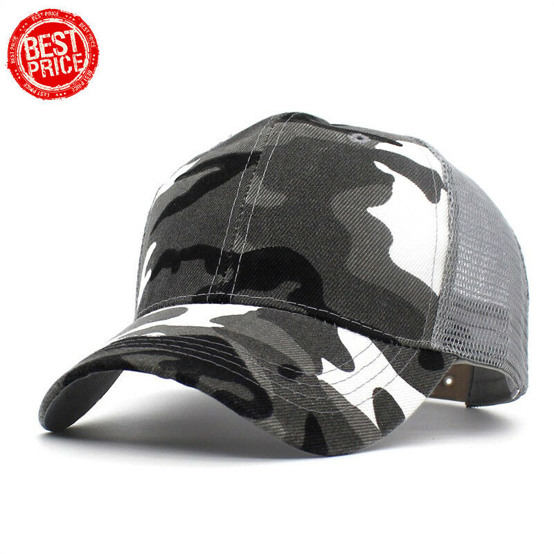 ce400fc0290 Details about New Army Baseball Cap Men Women Camouflage Snapback Hats  Cotton