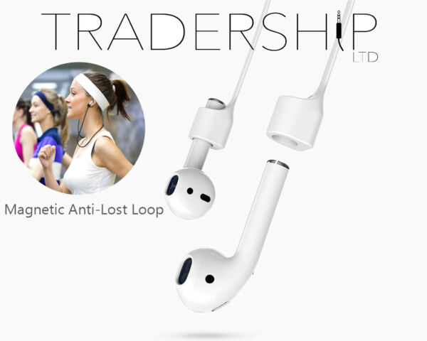 Magnetic Silicone Anti Lost Loop Sport Strap Rope Wire Cable for Apple Airpods