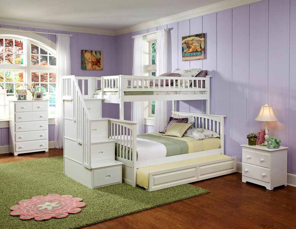Image Result For Bed Built Over Stair Box: Columbia Staircase Bunk Bed Twin Over Full With Raised