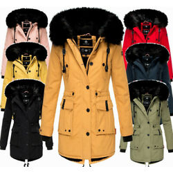 Kyпить Navahoo Damen Winter Jacke Parka FVS4 Stepp winter Mantel Kunstpelz LULUNA на еВаy.соm