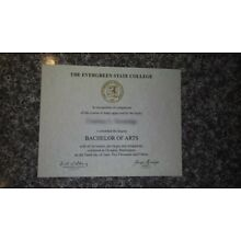 Associate/Bachelor/Master Degree (Novelty Only) FREE SHIPPING!!