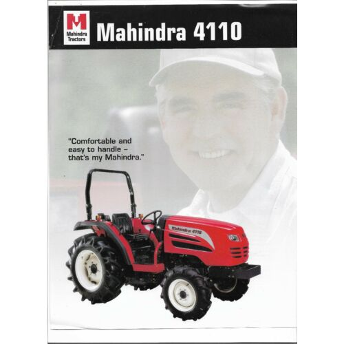 original-oe-oem-mahindra-4110-tractor-sales-brochure-spec-specifications-sheet